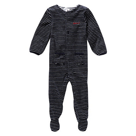 J by Jasper Conran - Designer babies navy velour sleepsuit