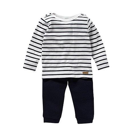 J by Jasper Conran - Designer babies navy striped top and bottoms set