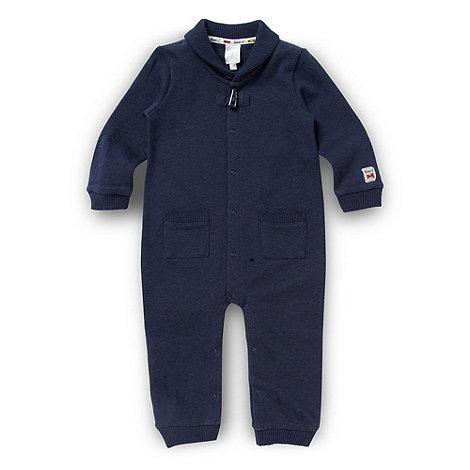 J by Jasper Conran - Designer babies navy shawl collar romper suit