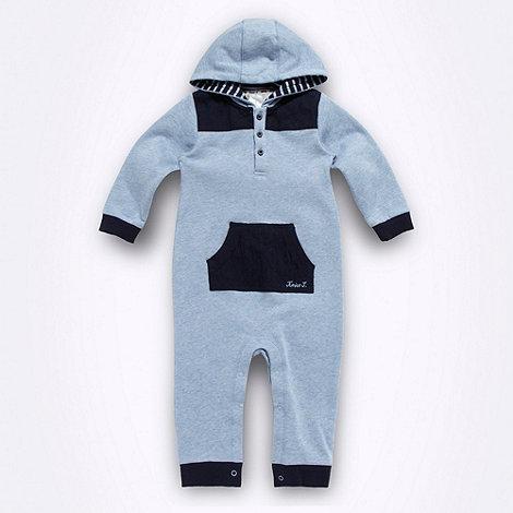 J by Jasper Conran - Designer babies blue marled romper suit