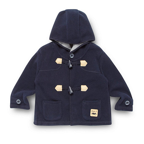 J by Jasper Conran - Designer baby+s navy fleece duffle jacket
