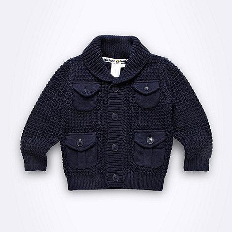 J by Jasper Conran - Designer babies navy shawl collar cardigan