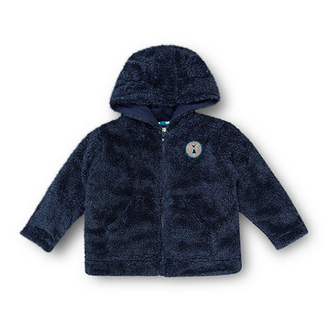 RJR.John Rocha - Designer babies navy hooded fleece jacket