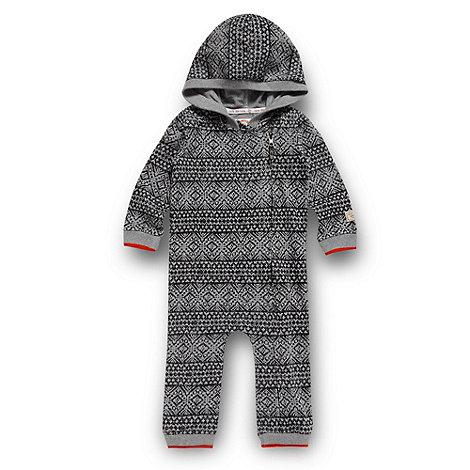 RJR.John Rocha - Designer babies grey fairisle printed romper suit