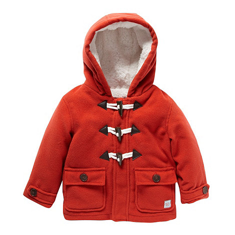 RJR.John Rocha - Designer babies dark orange fleece lined duffle coat