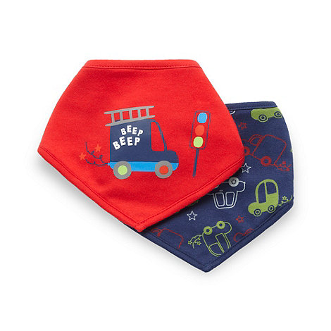 bluezoo - Babies pack of two patterned bibs