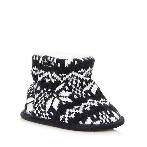 J by Jasper Conran - Designer babies fairisle knitted booties