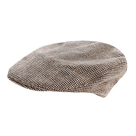 J by Jasper Conran - Designer boy+s light brown dogtooth flat cap