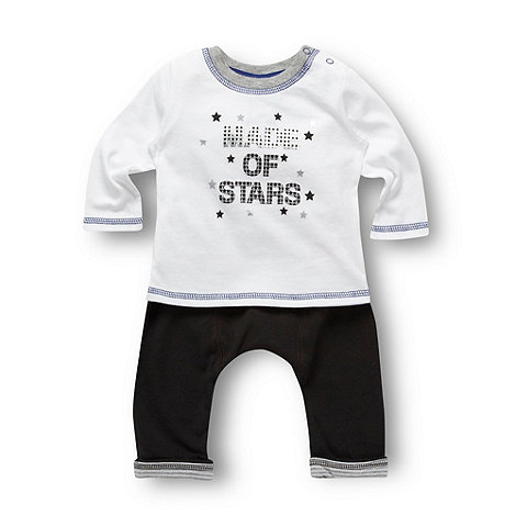 Star by Julien Macdonald - Designer babies grey t-shirt and joggers