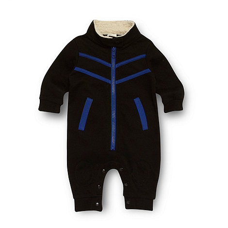 Star by Julien Macdonald - Designer babies black sweat romper suit