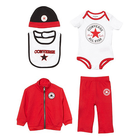 Converse - Babies red logo five piece set