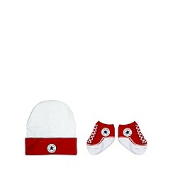 Converse - Babies red hat and socks set