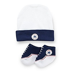 Converse - Babies white hat and socks set