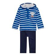 Babies blue striped hoodie and joggers