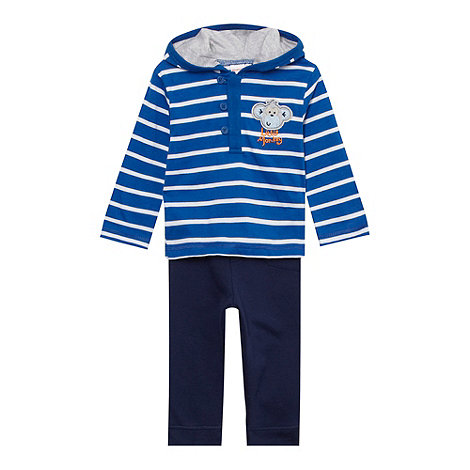 bluezoo - Babies blue striped hoodie and joggers