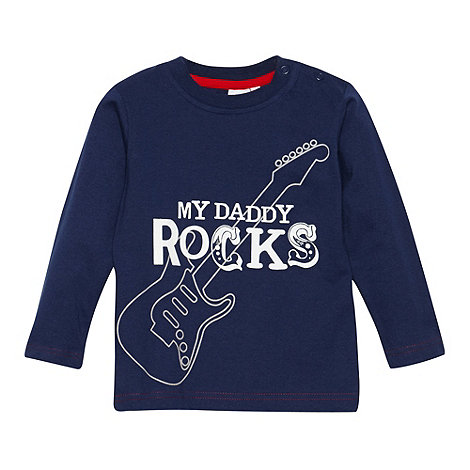 bluezoo - Babies navy +My Daddy Rocks+ top