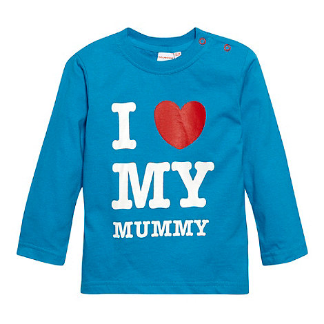 bluezoo - Babies bright blue +I Love Mummy+ top