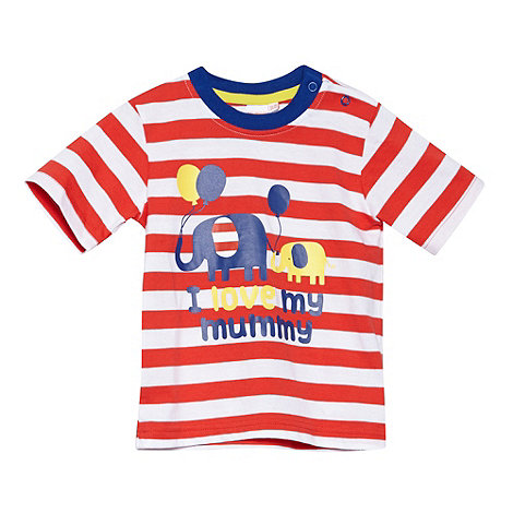 bluezoo - Babies red +I Love Mummy+ elephant print t-shirt