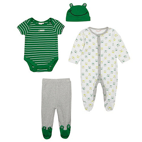 bluezoo - Babies green frog printed starter set