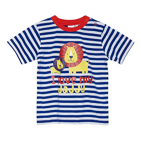 bluezoo - Babies blue +I Love Daddy+ lion print t-shirt