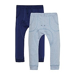 bluezoo - Babies pack of two navy and blue jogging bottoms