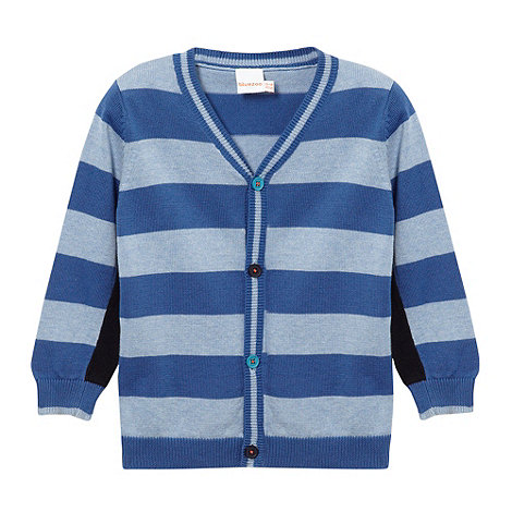 bluezoo - Babies blue striped cardigan