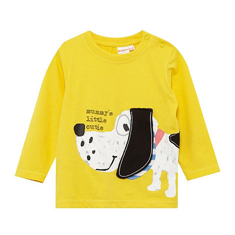 bluezoo - Babies yellow dalmatian print top