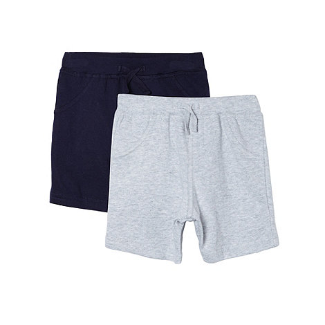 bluezoo - Pack of two babies navy and grey sweat shorts