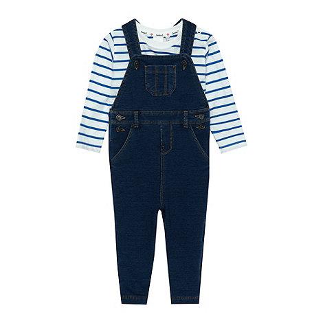 J by Jasper Conran - Designer babies navy dungaree set
