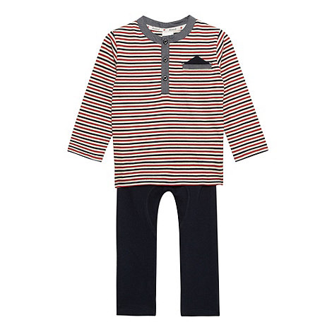 J by Jasper Conran - Babies striped hanky t-shirt and navy bottoms set