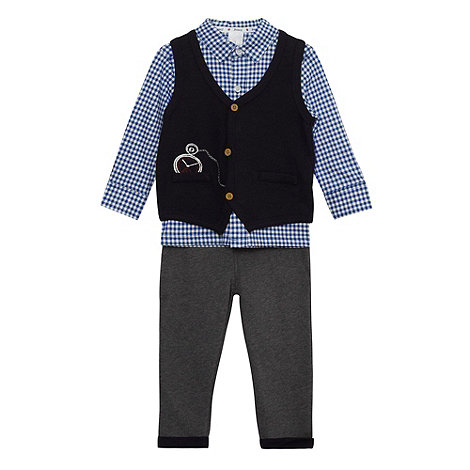 J by Jasper Conran - Designer babies navy three piece set