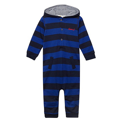 J by Jasper Conran - Designer babies blue striped romper suit