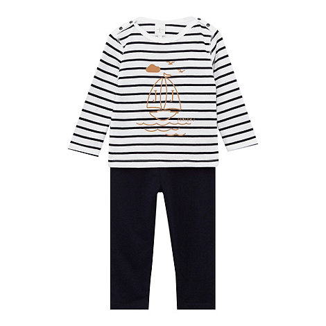 J by Jasper Conran - Designer babies navy boat t-shirt and leggings