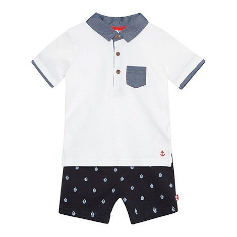 J by Jasper Conran - Designer babies polo shirt and shorts set