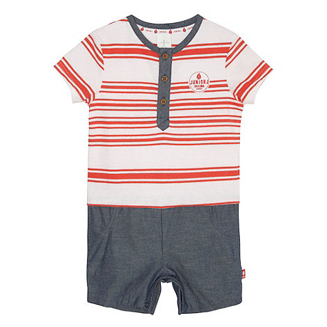 J by Jasper Conran - Designer babies red striped 2-in-1 romper suit