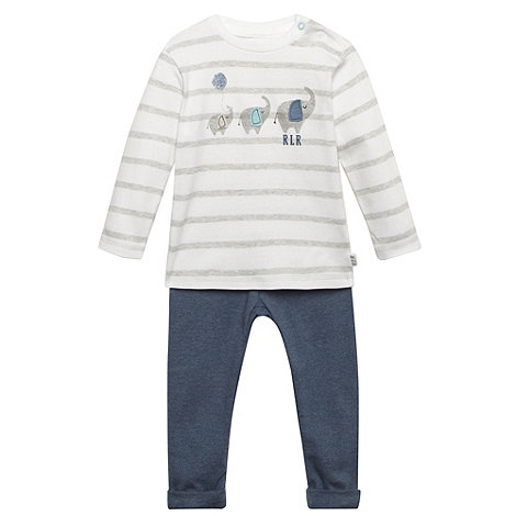 RJR.John Rocha - Designer babies grey elephant top and jogging bottoms