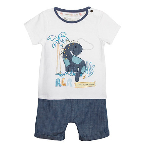 RJR.John Rocha - Designer babies blue 2-in-1 dinosaur t-shirt and shorts