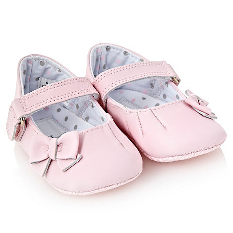 J by Jasper Conran - Designer Babies pink leather bow booties