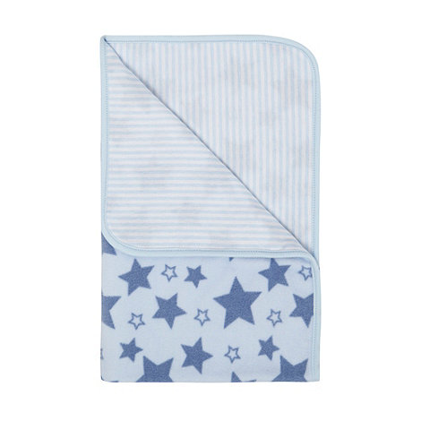 bluezoo - Babies blue star patterned fleece blanket
