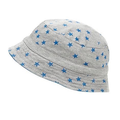 bluezoo - Boy+s grey star printed bucket hat