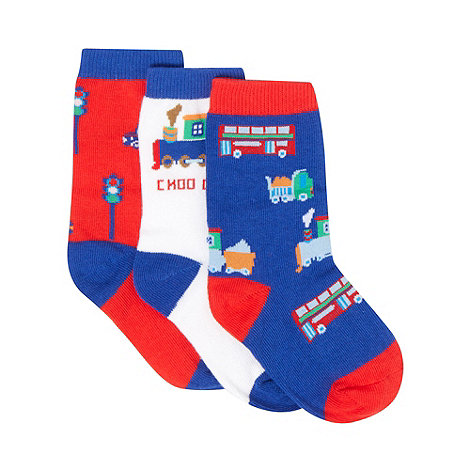 bluezoo - Pack of three babies blue transport socks