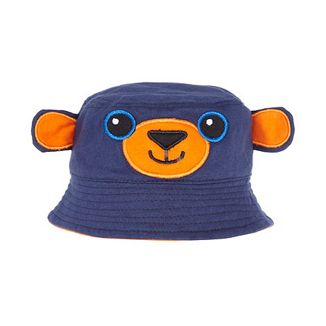 bluezoo - Babies navy bear face hat