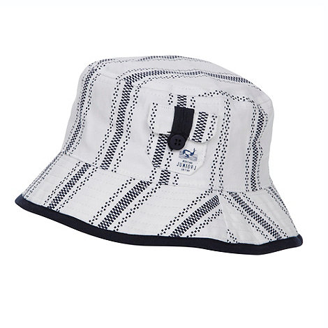 J by Jasper Conran - Designer babies white ticking striped bucket hat