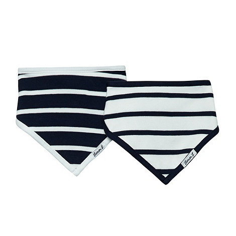 J by Jasper Conran - Designer babies pack of two navy striped bibs