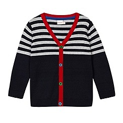 bluezoo - Babies navy striped cardigan