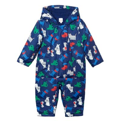 bluezoo Babies blue dog print padded snowsuit - . -