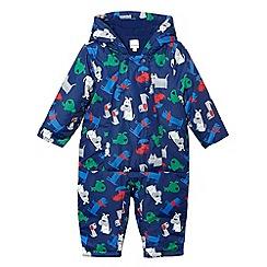 bluezoo - Babies blue dog print padded snowsuit