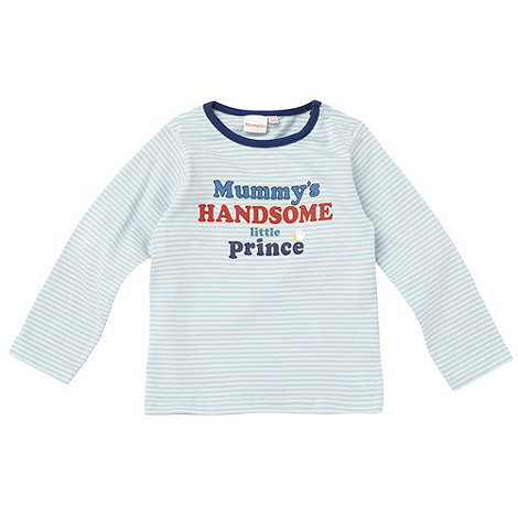 bluezoo - Babies blue +Mummy+s Little Prince+ top