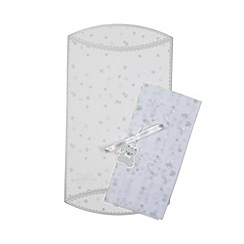 Debenhams - Silver stars luxury gift box with tissue paper and gift tag