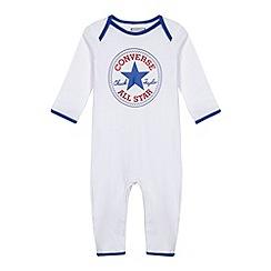 Converse - Babies white logo sleepsuit
